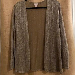 Chico's Gold wrap/sweater